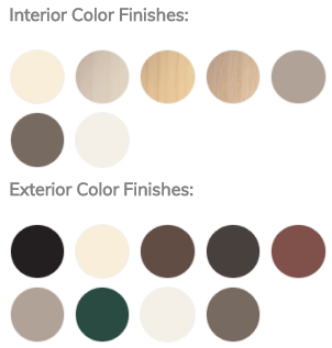 interior exterior window colors